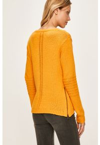 Żółty sweter Roxy casualowy, na co dzień, z okrągłym kołnierzem
