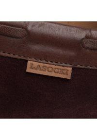 Lasocki For Men - Mokasyny LASOCKI FOR MEN - MI08-C719-499-01 Maroon. Okazja: na spacer, na co dzień. Kolor: czerwony. Materiał: skóra, zamsz. Szerokość cholewki: normalna. Wzór: aplikacja. Styl: klasyczny, sportowy, casual