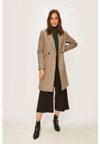 Brązowy płaszcz Vero Moda bez kaptura, klasyczny, na co dzień