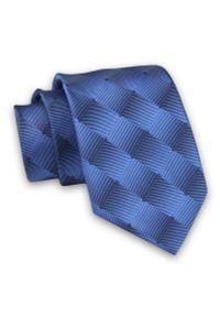 Niebieski krawat Alties w geometryczne wzory, klasyczny