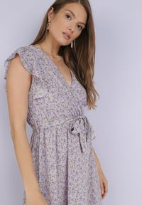 Born2be - Liliowa Sukienka Dorinisse. Kolor: fioletowy