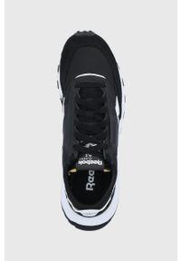 Czarne buty sportowe z cholewką, na obcasie, Reebok Classic