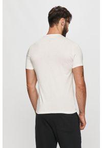 Biały t-shirt Blauer z okrągłym kołnierzem, na co dzień