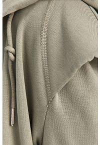 Answear Lab - Bluza bawełniana. Typ kołnierza: kaptur. Kolor: turkusowy. Materiał: bawełna. Styl: wakacyjny