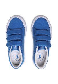 Polo Ralph Lauren - Tenisówki POLO RALPH LAUREN - Elmwood Ez RF102962 S Blue/White. Okazja: na spacer. Zapięcie: rzepy. Kolor: niebieski. Materiał: materiał. Szerokość cholewki: normalna