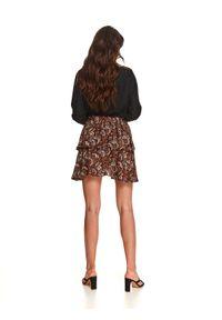 TOP SECRET - Gładka bluza damska o luźnym kroju. Okazja: na co dzień. Kolor: czarny. Materiał: dzianina. Wzór: gładki. Sezon: jesień. Styl: casual