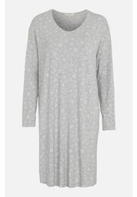 Cellbes Miękka koszula nocna popielaty melanż we wzory female szary/ze wzorem 62/64. Kolor: szary. Materiał: włókno, wiskoza. Długość: długie. Wzór: melanż