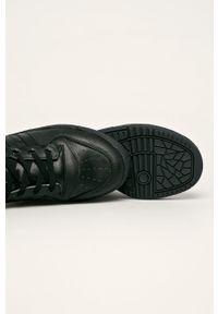 Czarne sneakersy adidas Originals na sznurówki, z cholewką, z okrągłym noskiem