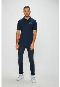 Niebieska koszulka polo Kappa na co dzień, casualowa