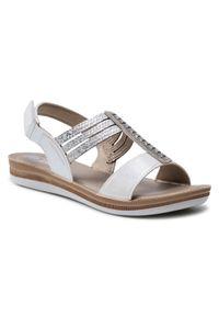 Srebrne sandały Inblu na co dzień, casualowe