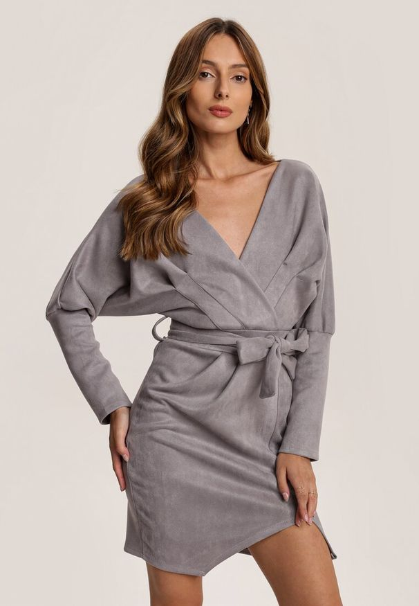 Szara sukienka mini Renee
