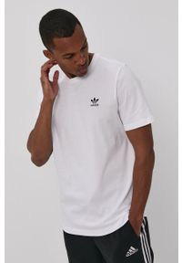 adidas Originals - T-shirt. Okazja: na co dzień. Kolor: biały. Materiał: dzianina. Wzór: gładki. Styl: casual