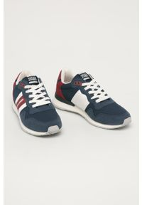 Niebieskie sneakersy Jack & Jones z okrągłym noskiem, na sznurówki, z cholewką #5
