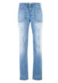 Wygodne dżinsy ze stretchem BOYFRIEND bonprix jasnoniebieski. Kolor: niebieski