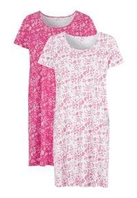 Cellbes Koszula nocna 2 Pack różowy biały female różowy/biały 46/48. Kolor: biały, różowy, wielokolorowy. Długość: krótkie