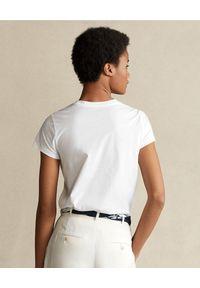 Ralph Lauren - RALPH LAUREN - Biała koszulka z misiem. Okazja: na co dzień. Typ kołnierza: polo. Kolor: biały. Materiał: jeans, bawełna. Wzór: nadruk. Sezon: wiosna. Styl: casual, klasyczny #3