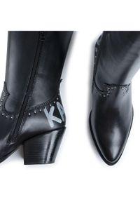 Czarne kowbojki Karl Lagerfeld