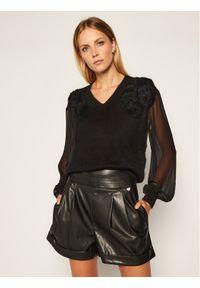 Czarny sweter klasyczny TwinSet