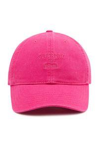 Superdry Czapka z daszkiem Baseball Cap W9010105A Różowy. Kolor: różowy #3