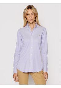 Lauren Ralph Lauren Koszula Lsl 211664427013 Fioletowy Regular Fit. Kolor: fioletowy