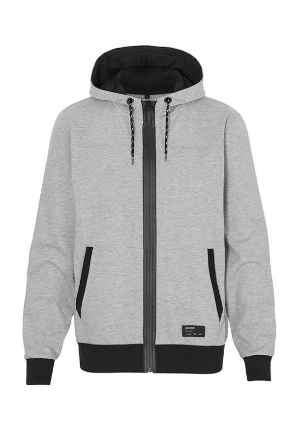 Szary sweter Cellbes melanż, z kapturem