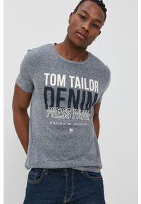Tom Tailor - T-shirt. Okazja: na co dzień. Kolor: niebieski. Materiał: dzianina. Wzór: nadruk. Styl: casual