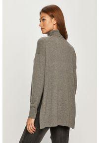 Szary sweter AllSaints z golfem, casualowy