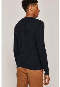 Niebieski sweter medicine długi, z długim rękawem, na co dzień