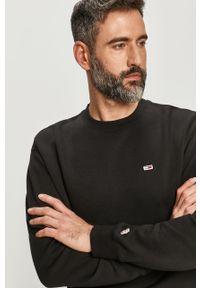 Czarna bluza nierozpinana Tommy Jeans bez kaptura, na co dzień