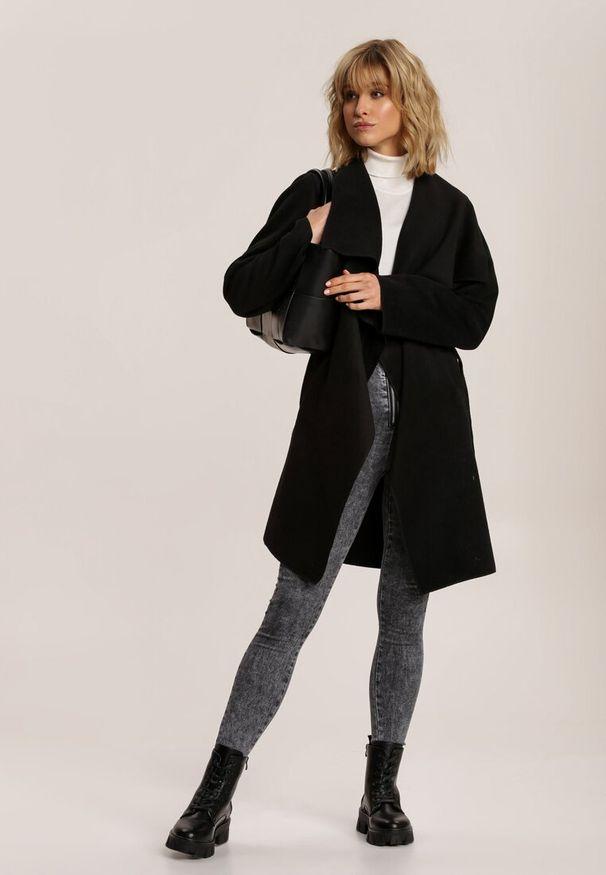 Czarny krótki płaszcz Renee