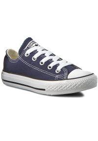 Niebieskie półbuty Converse casualowe, z cholewką