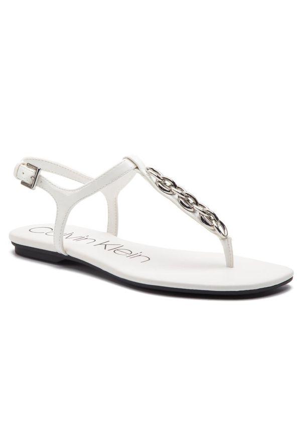 Białe sandały Calvin Klein