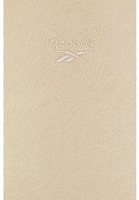 Reebok Classic - Bluza bawełniana. Typ kołnierza: kaptur. Kolor: beżowy. Materiał: bawełna. Długość rękawa: długi rękaw. Długość: długie