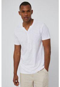 medicine - Medicine - T-shirt Basic. Kolor: biały. Materiał: dzianina. Długość: krótkie. Wzór: gładki