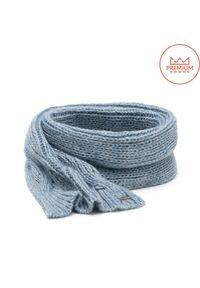 Ciepły, długi szal damski na zimę PaMaMi- Baby blue. Kolor: niebieski. Materiał: moher, wełna, wiskoza, akryl. Sezon: zima