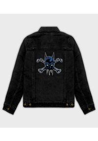 MegaKoszulki - Kurtka jeansowa damska Batman crossbones. Materiał: jeans. Wzór: motyw z bajki. Sezon: wiosna. Styl: klasyczny