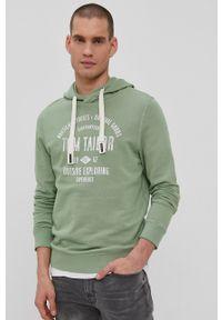 Tom Tailor - Bluza bawełniana. Okazja: na co dzień. Kolor: zielony. Materiał: bawełna. Wzór: nadruk. Styl: casual