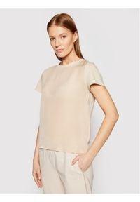 Marella T-Shirt Max 39710115 Beżowy Regular Fit. Kolor: beżowy