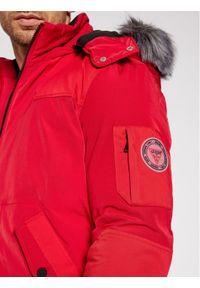 Czerwona kurtka puchowa Guess #7