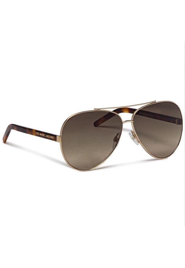 Okulary przeciwsłoneczne MARC JACOBS - 522/S Gold Havana 06J. Kolor: brązowy