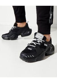 Versace Jeans Couture - VERSACE JEANS COUTURE - Sneakersy w kolorze czarnym. Kolor: czarny. Materiał: materiał