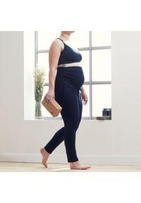 KIMJALY - Spodnie do jogi prenatalnej damskie Kimjaly. Kolekcja: moda ciążowa. Kolor: czarny. Materiał: bawełna, materiał, elastan. Sport: joga i pilates