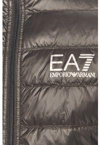 Szara kurtka EA7 Emporio Armani casualowa, na co dzień, bez kaptura