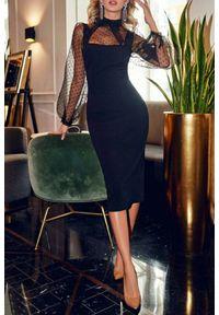 Czarna długa sukienka IVET wizytowa