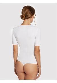 Wolford Body Vermont 79177 Biały Slim Fit. Kolor: biały