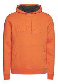 Jack Wolfskin Bluza Logo Hoody 1709141 Pomarańczowy Regular Fit. Kolor: pomarańczowy
