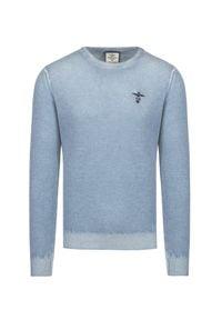 Aeronautica Militare - Sweter wełniany AERONAUTICA MILITARE. Materiał: wełna. Wzór: haft. Sezon: zima. Styl: klasyczny