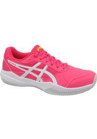 Różowe buty do tenisa Asics z cholewką, w kolorowe wzory