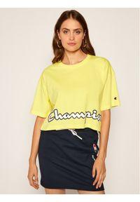 Żółty t-shirt Champion z nadrukiem