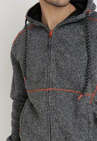 Born2be - Szaro-Pomarańczowa Bluza Barchiel. Typ kołnierza: kaptur. Kolor: szary. Materiał: dresówka, bawełna, jeans, dzianina, polar. Długość rękawa: długi rękaw. Długość: długie. Styl: sportowy #3